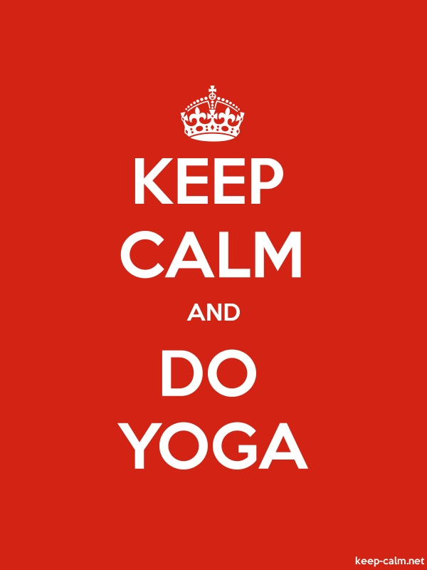 KEEP CALM AND DO YOGA - white/red - Default (600x800)