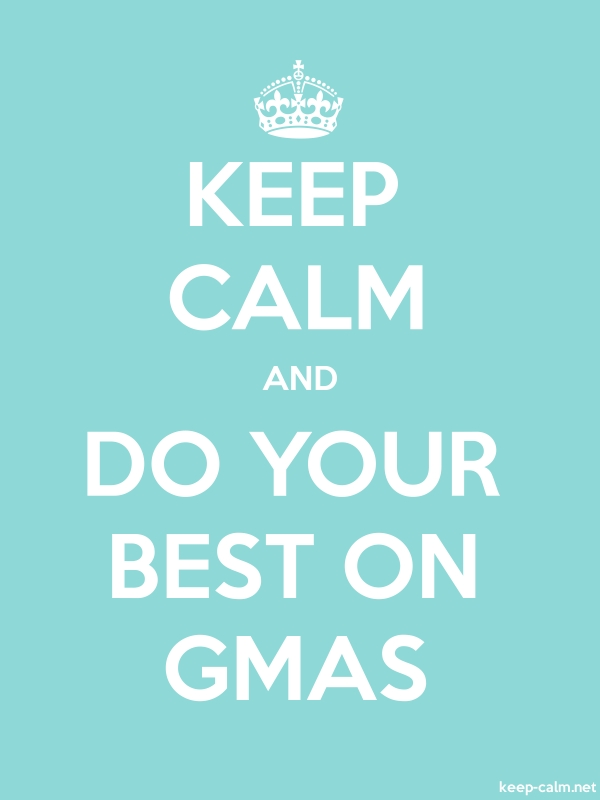 KEEP CALM AND DO YOUR BEST ON GMAS - white/lightblue - Default (600x800)