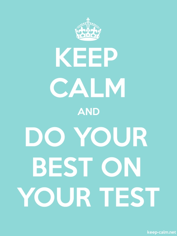 KEEP CALM AND DO YOUR BEST ON YOUR TEST - white/lightblue - Default (600x800)