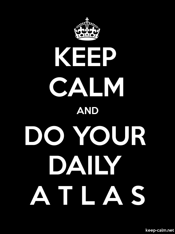 KEEP CALM AND DO YOUR DAILY A T L A S - white/black - Default (600x800)