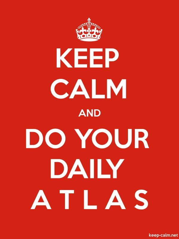 KEEP CALM AND DO YOUR DAILY A T L A S - white/red - Default (600x800)