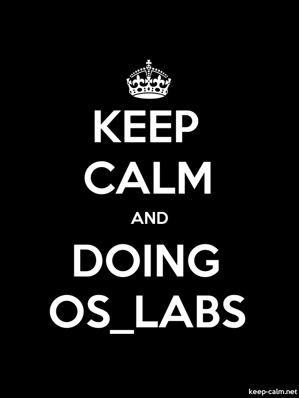KEEP CALM AND DOING OS_LABS - white/black - Default (600x800)