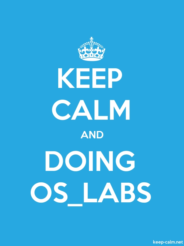 KEEP CALM AND DOING OS_LABS - white/blue - Default (600x800)