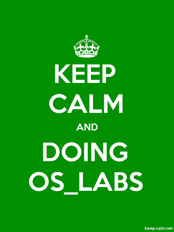 KEEP CALM AND DOING OS_LABS - white/green - Default (600x800)