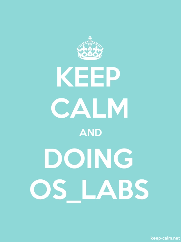 KEEP CALM AND DOING OS_LABS - white/lightblue - Default (600x800)