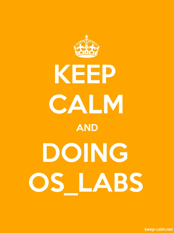 KEEP CALM AND DOING OS_LABS - white/orange - Default (600x800)