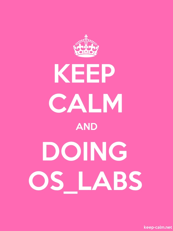 KEEP CALM AND DOING OS_LABS - white/pink - Default (600x800)