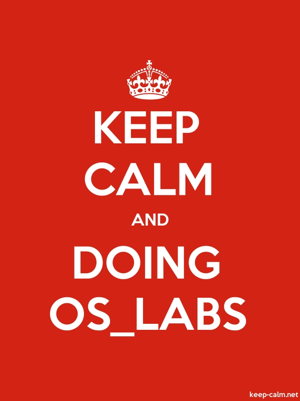 KEEP CALM AND DOING OS_LABS - white/red - Default (600x800)