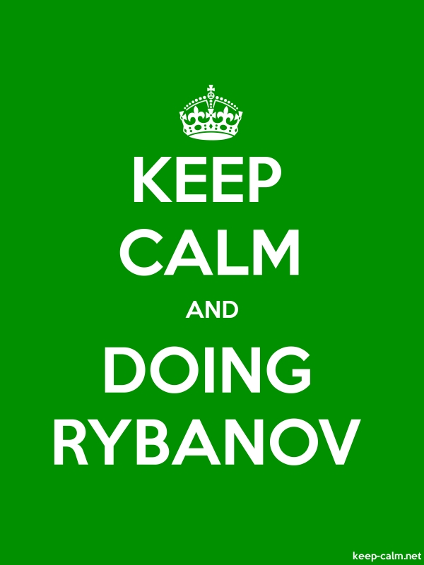 KEEP CALM AND DOING RYBANOV - white/green - Default (600x800)