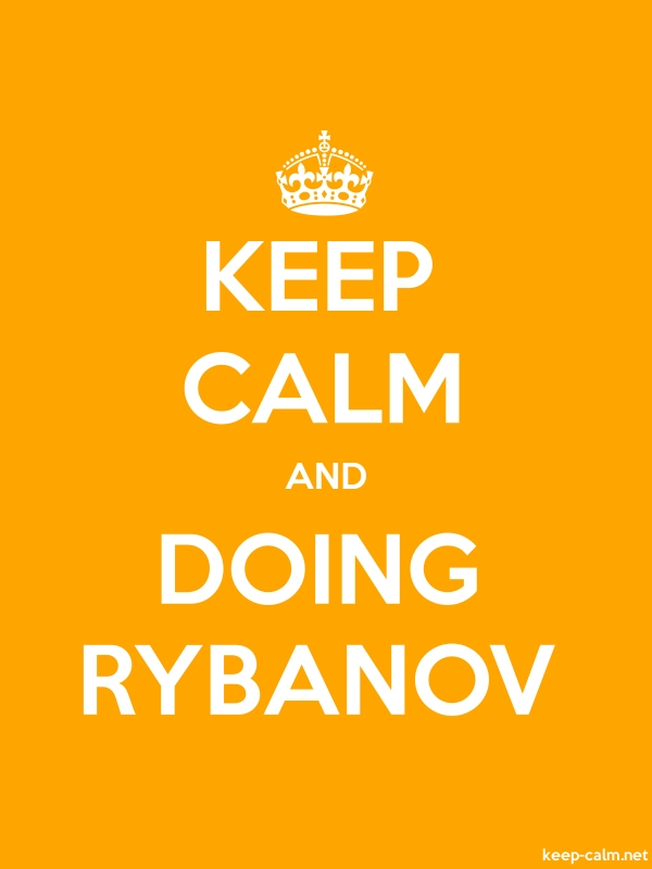 KEEP CALM AND DOING RYBANOV - white/orange - Default (600x800)