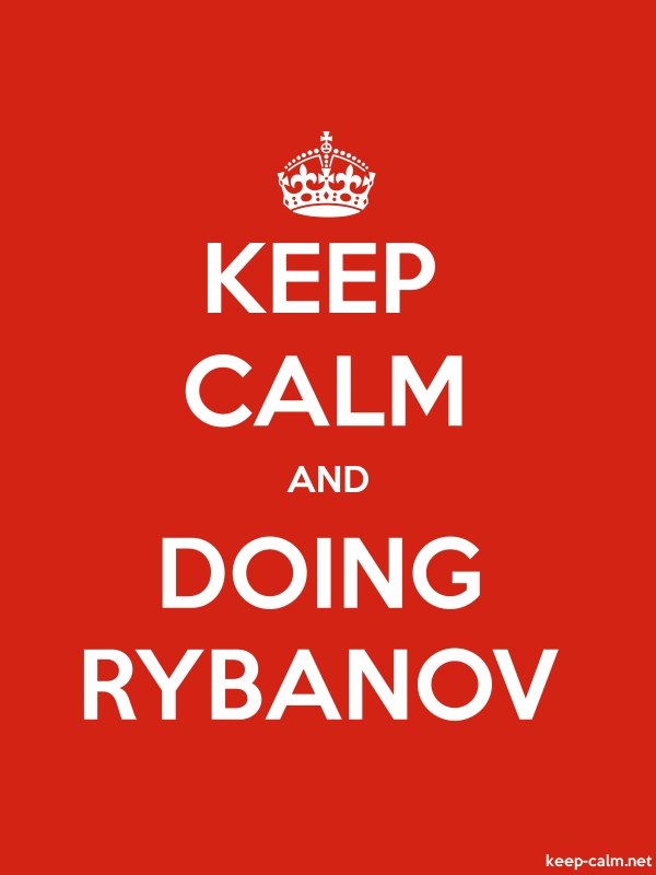 KEEP CALM AND DOING RYBANOV - white/red - Default (600x800)