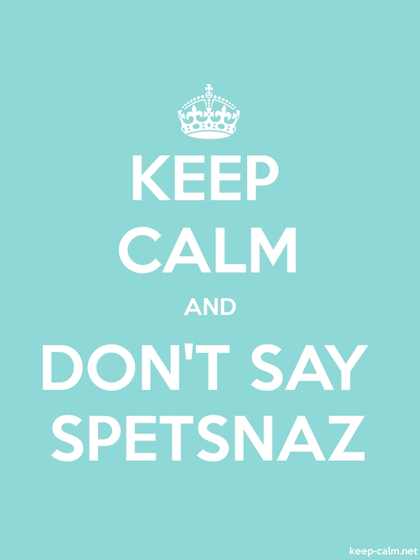 KEEP CALM AND DON'T SAY SPETSNAZ - white/lightblue - Default (600x800)