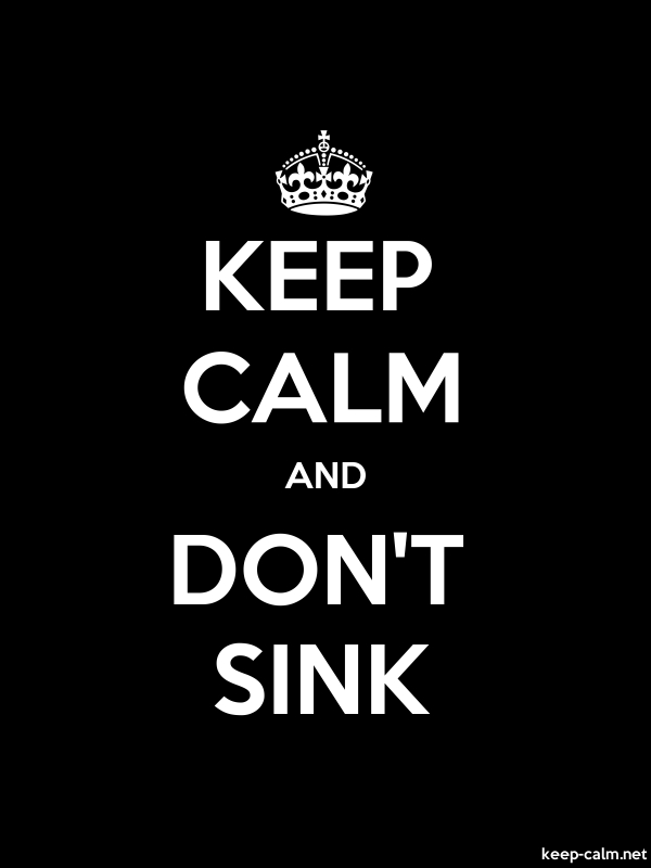 KEEP CALM AND DON'T SINK - white/black - Default (600x800)