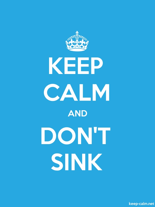KEEP CALM AND DON'T SINK - white/blue - Default (600x800)
