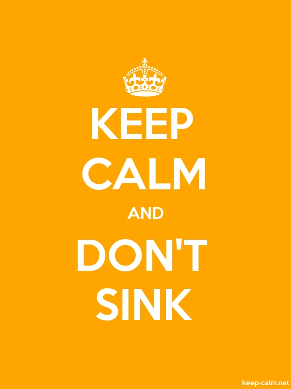 KEEP CALM AND DON'T SINK - white/orange - Default (600x800)