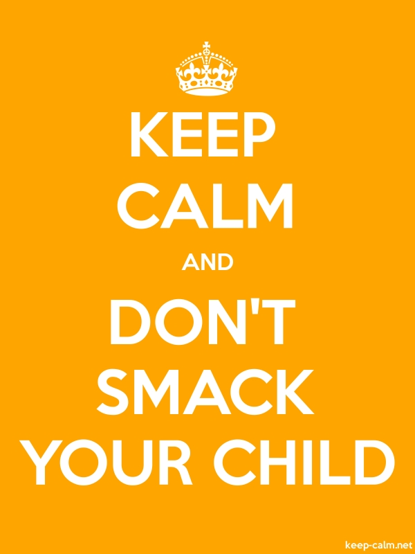 KEEP CALM AND DON'T SMACK YOUR CHILD - white/orange - Default (600x800)