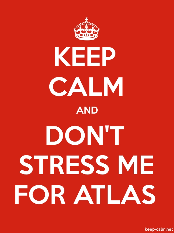KEEP CALM AND DON'T STRESS ME FOR ATLAS - white/red - Default (600x800)
