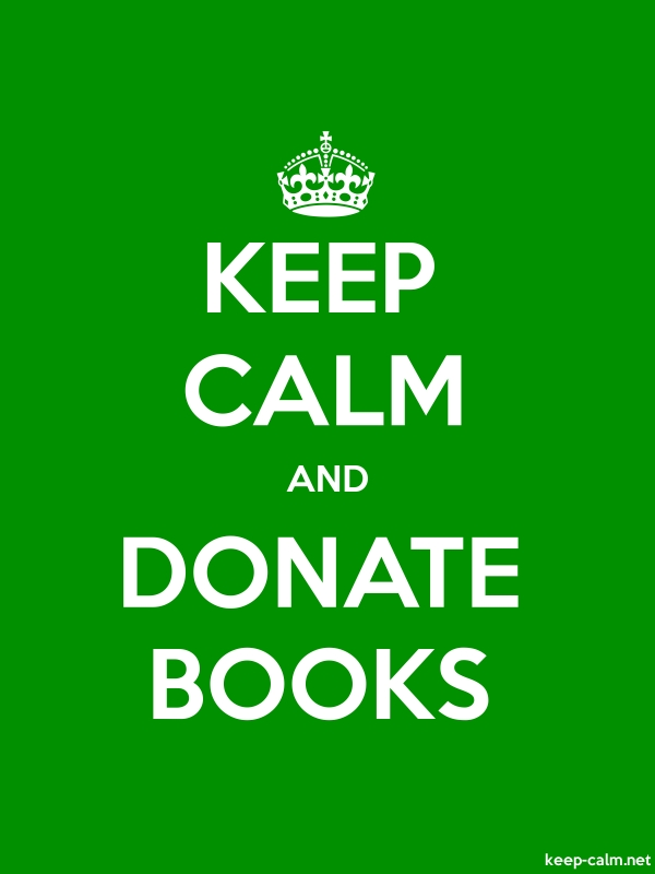 KEEP CALM AND DONATE BOOKS - white/green - Default (600x800)