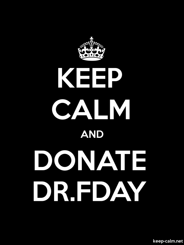 KEEP CALM AND DONATE DR.FDAY - white/black - Default (600x800)