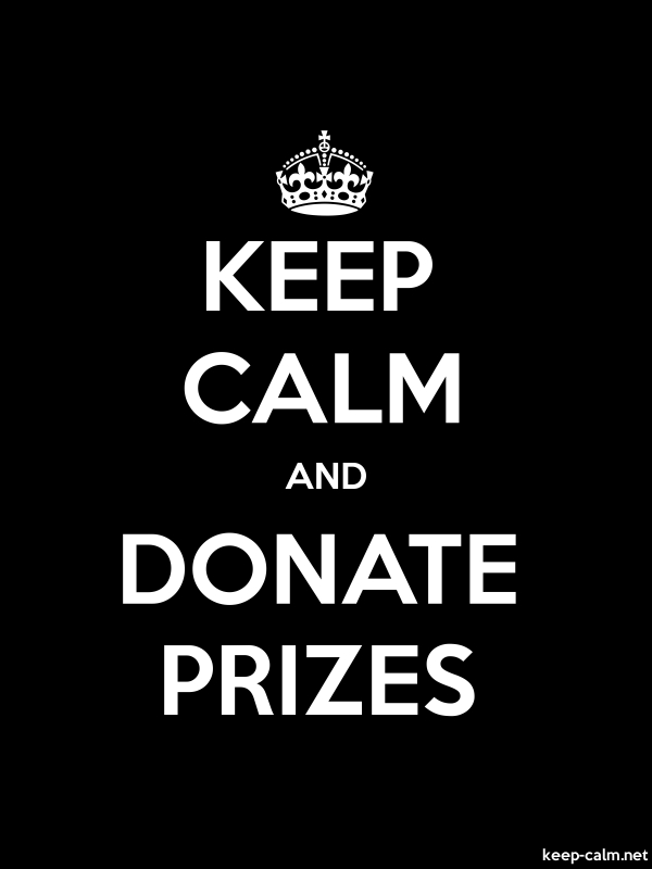 KEEP CALM AND DONATE PRIZES - white/black - Default (600x800)