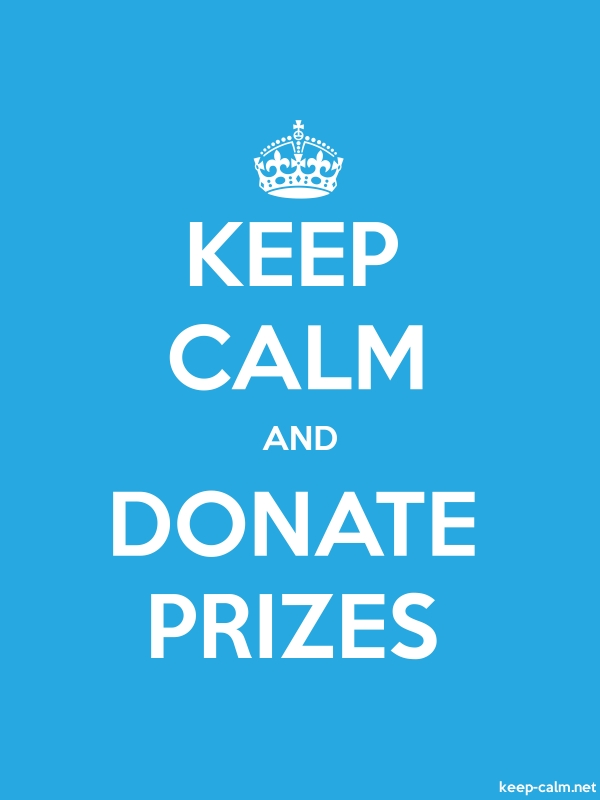 KEEP CALM AND DONATE PRIZES - white/blue - Default (600x800)