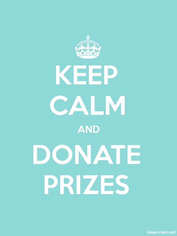 KEEP CALM AND DONATE PRIZES - white/lightblue - Default (600x800)