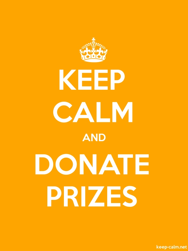 KEEP CALM AND DONATE PRIZES - white/orange - Default (600x800)