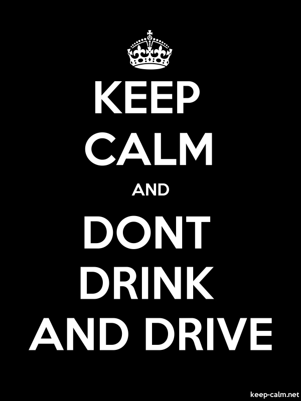 KEEP CALM AND DONT DRINK AND DRIVE - white/black - Default (600x800)