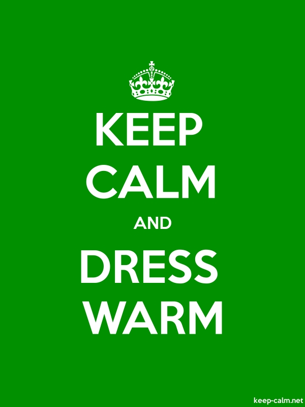 KEEP CALM AND DRESS WARM - white/green - Default (600x800)