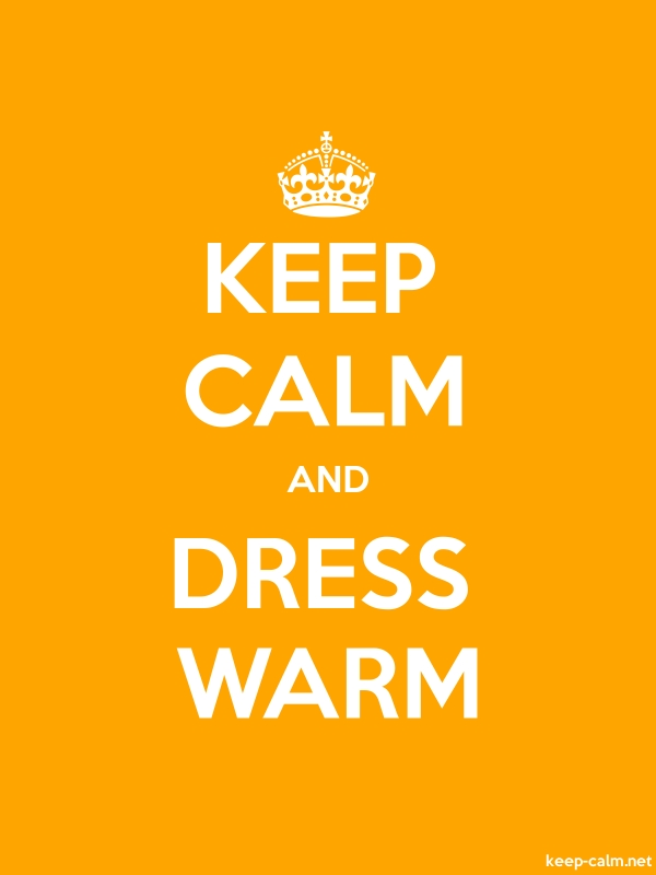 KEEP CALM AND DRESS WARM - white/orange - Default (600x800)