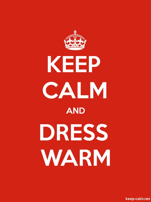KEEP CALM AND DRESS WARM - white/red - Default (600x800)