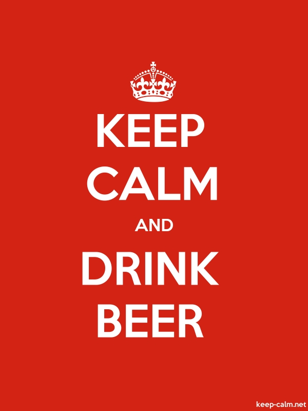 KEEP CALM AND DRINK BEER - white/red - Default (600x800)