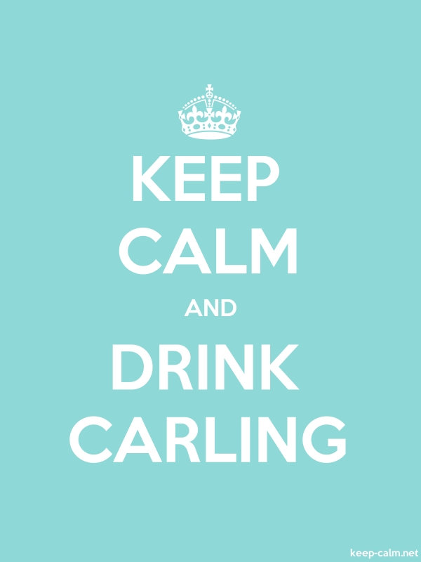 KEEP CALM AND DRINK CARLING - white/lightblue - Default (600x800)