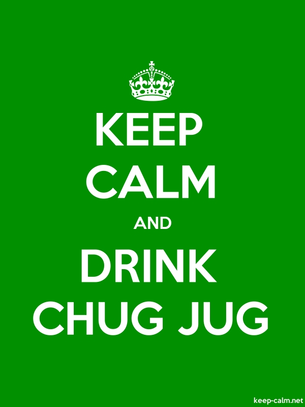 KEEP CALM AND DRINK CHUG JUG - white/green - Default (600x800)