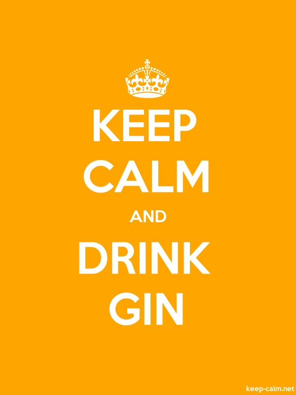 KEEP CALM AND DRINK GIN - white/orange - Default (600x800)