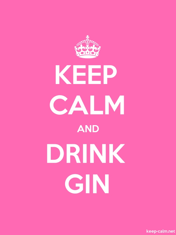 KEEP CALM AND DRINK GIN - white/pink - Default (600x800)