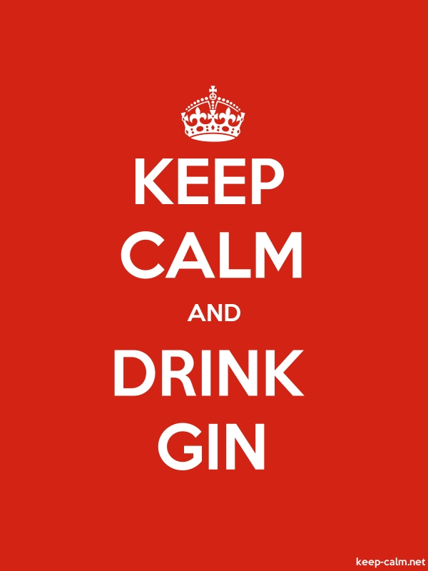 KEEP CALM AND DRINK GIN - white/red - Default (600x800)