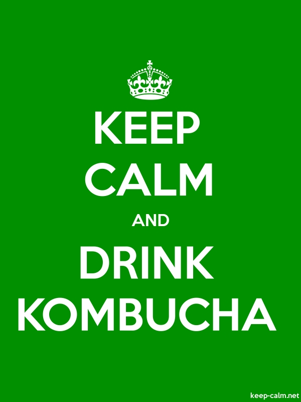 KEEP CALM AND DRINK KOMBUCHA - white/green - Default (600x800)