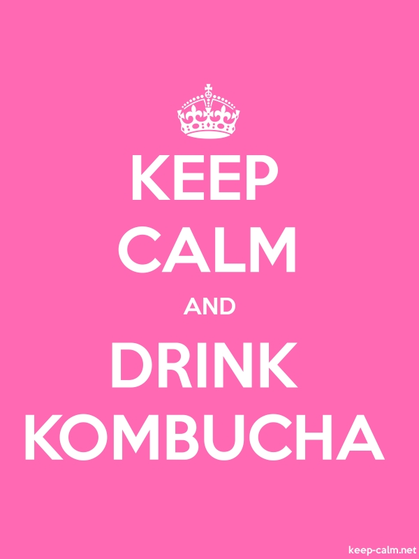 KEEP CALM AND DRINK KOMBUCHA - white/pink - Default (600x800)