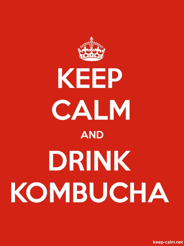 KEEP CALM AND DRINK KOMBUCHA - white/red - Default (600x800)