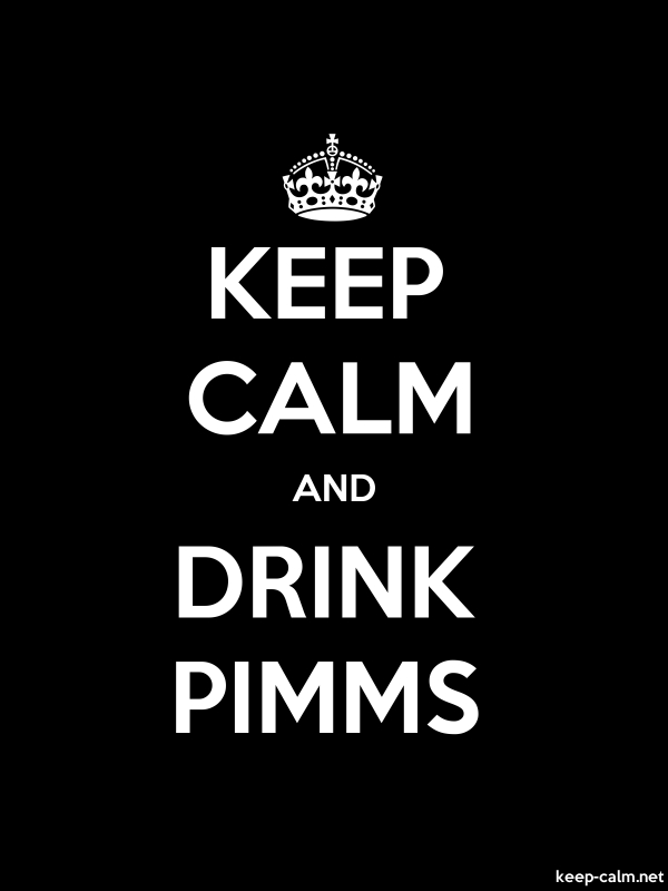 KEEP CALM AND DRINK PIMMS - white/black - Default (600x800)