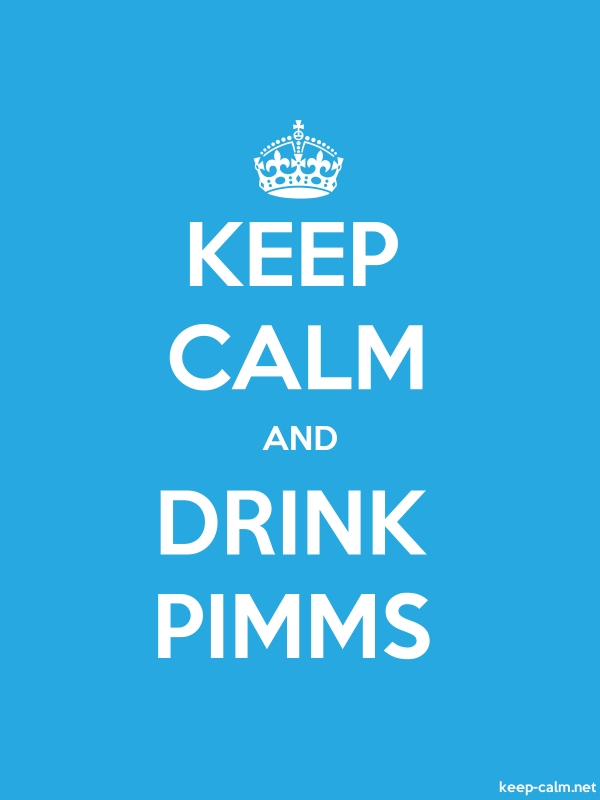 KEEP CALM AND DRINK PIMMS - white/blue - Default (600x800)