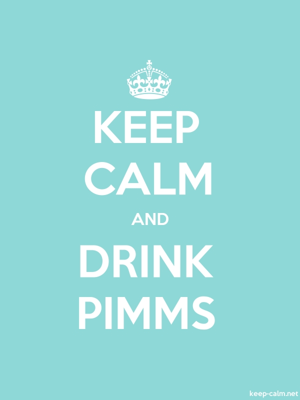 KEEP CALM AND DRINK PIMMS - white/lightblue - Default (600x800)