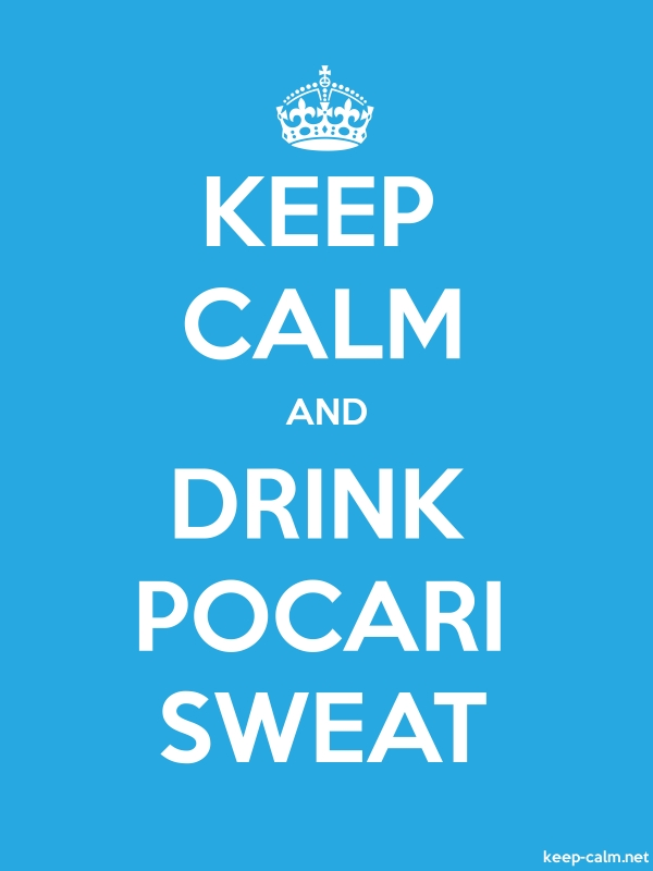 KEEP CALM AND DRINK POCARI SWEAT - white/blue - Default (600x800)