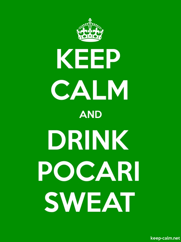 KEEP CALM AND DRINK POCARI SWEAT - white/green - Default (600x800)