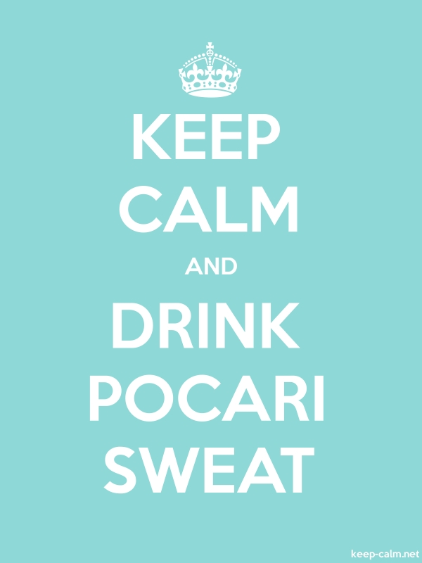 KEEP CALM AND DRINK POCARI SWEAT - white/lightblue - Default (600x800)