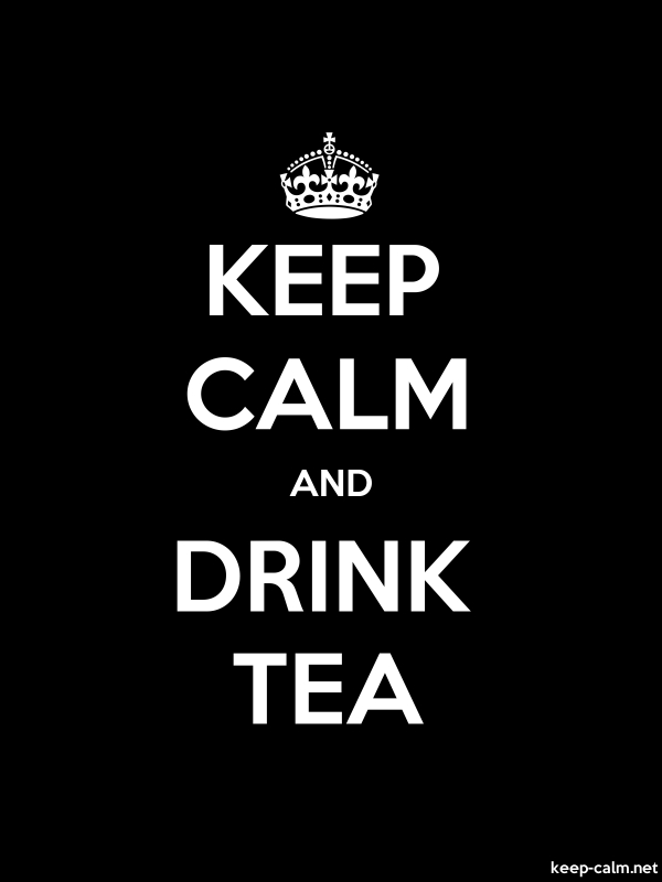 KEEP CALM AND DRINK TEA - white/black - Default (600x800)