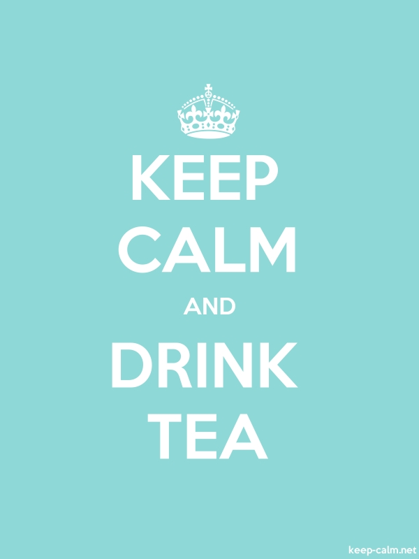 KEEP CALM AND DRINK TEA - white/lightblue - Default (600x800)
