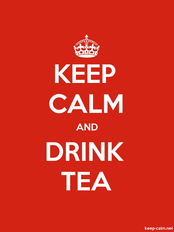 KEEP CALM AND DRINK TEA - white/red - Default (600x800)