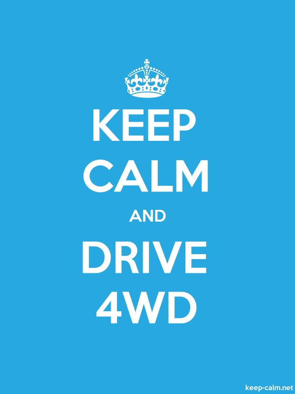KEEP CALM AND DRIVE 4WD - white/blue - Default (600x800)